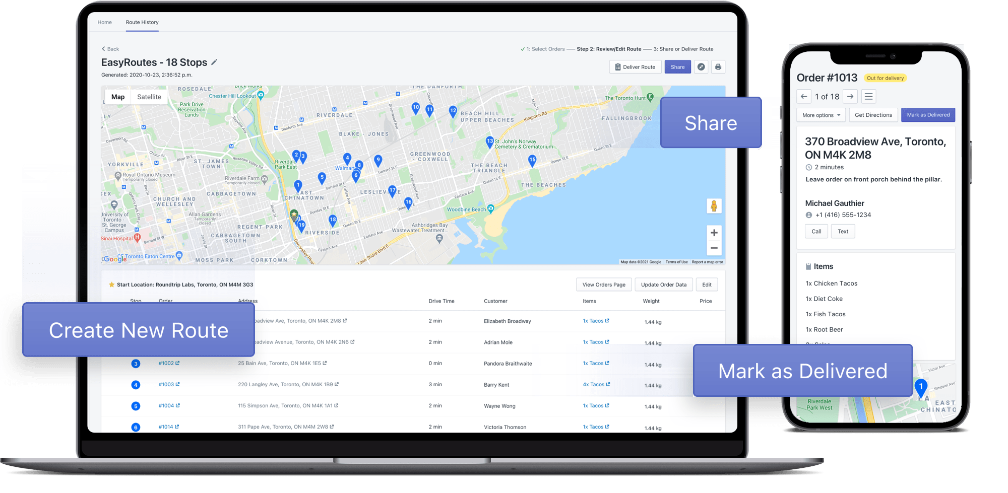 EasyRoutes - Create simple delivery routes with ease